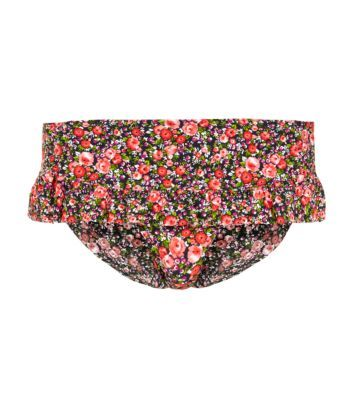 Kelly Brook Red Ditsy Floral Frill Trim Bikini Bottoms £10.99 New Look