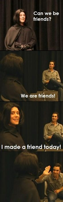 Day 11 - Fave episode of Potion Master's Corner: Joey Richter! He was just so nice to Snape <3