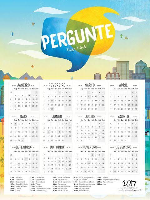 """As Tontas Vão Ao Céu: Calendário Anual - """"Pergunte"""" (Mutual 2017)"""