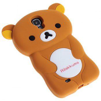 Precioso Rilakkuma alta calidad del estilo de Funda de silicona para Samsung Galaxy S4 i9500/i9505 (café) | igogo Mobile - La tienda en online de los gadgets y la electrónica