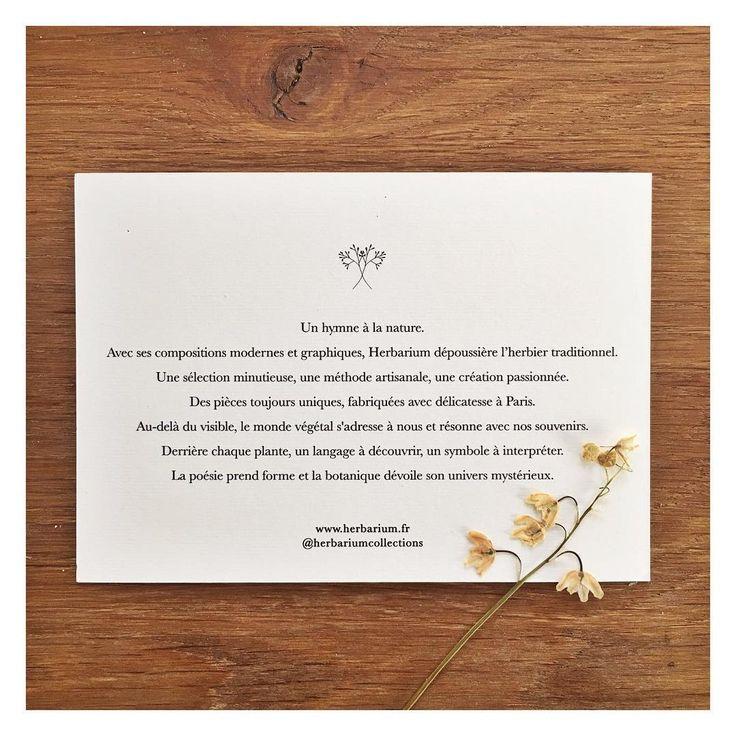 Notre hymne à la nature #Herbarium #notremessage #notretravail #realisation #avecamour #delicatesse #passion #botanique #handmade #paris #artisan #artisanat #artwork #papier #artdupapier #papercraft #papeterie
