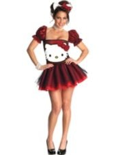 Adult Sequin Hello Kitty Costume - Party City     Aunty hope. :D