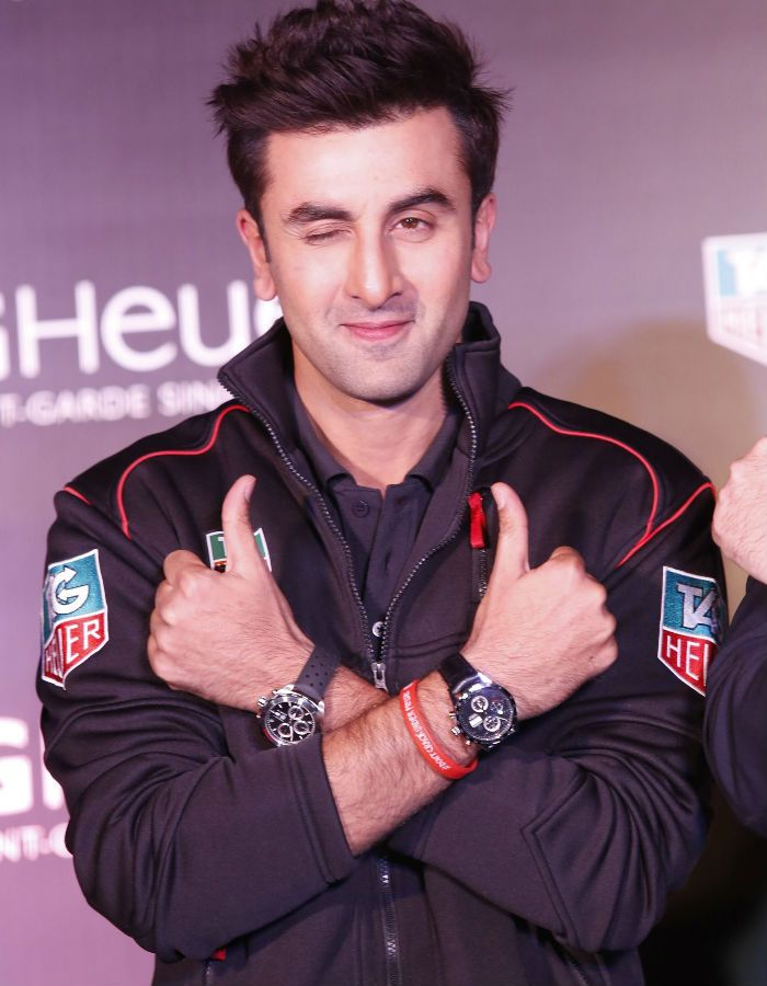 Ranbir Kapoor at the launch of TAG Heuer's new brand Campaign, 'Don't Crack Under Pressure' at the Buddh International Circuit, New Delhi.