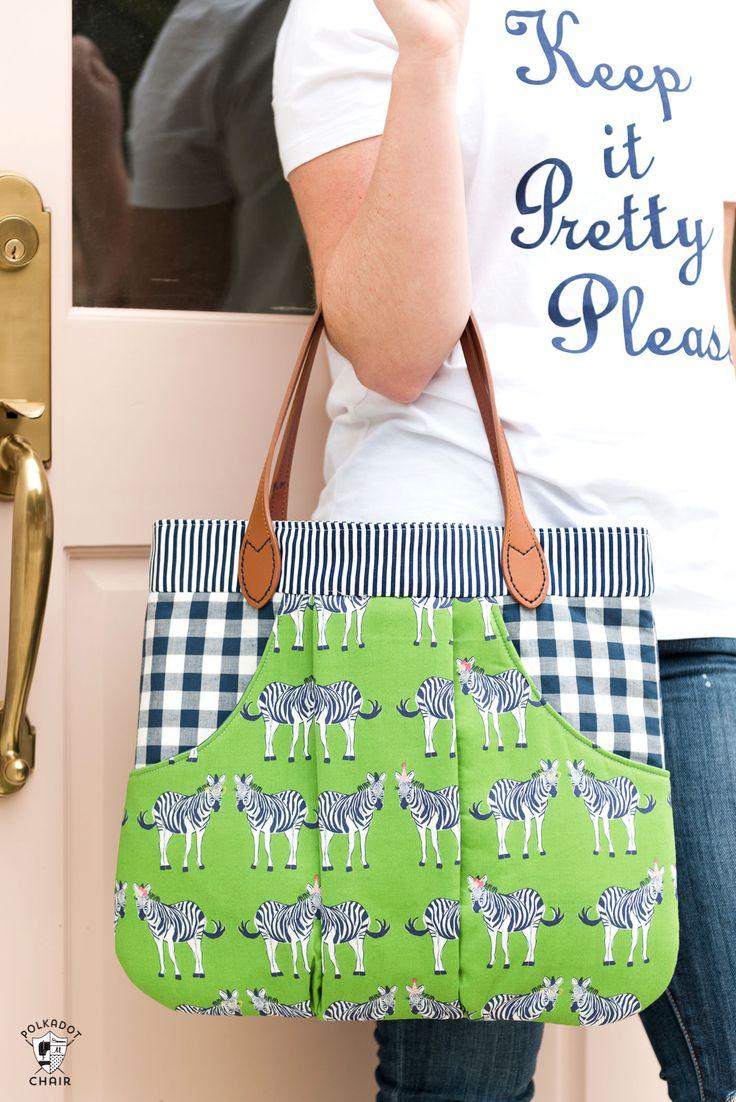 New Bag Sewing Patterns & Video Tutorials! via @polkadotchair