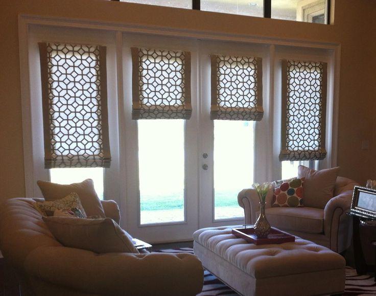 Roman Shade For Patio Door Window Shades In 2019