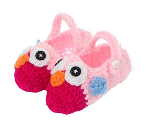 Bigood Strickschuh One Size Strick Schuh Baby Unisex süße Muster 11cm Vogel Pink - http://on-line-kaufen.de/bigood/bigood-strickschuh-one-size-strick-schuh-baby-8