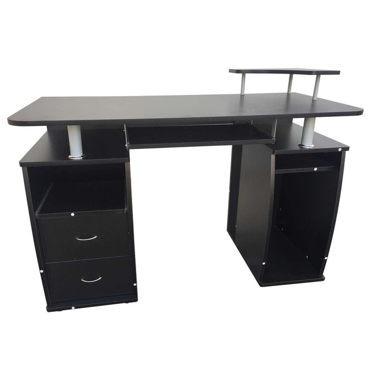 Integrated Melamine Board Computer Desk with Drawers