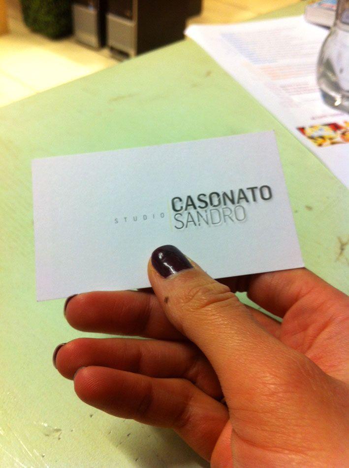 "Businnes Card ""Sandro Casonato"""