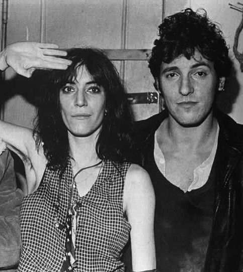 patti smith and bruce springsteen.
