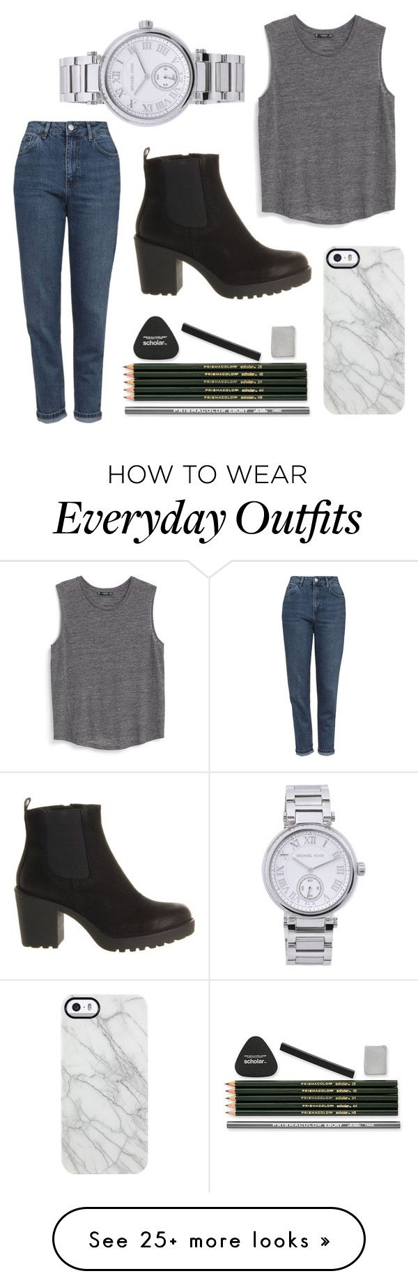 """""""Everyday outfit"""" by julie-nissen-1 on Polyvore featuring moda, Topshop, Vagabond, MANGO, Michael Kors, Uncommon, women's clothing, women, female y woman"""