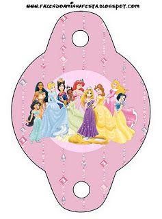 Disney Princess: Free Party Printables