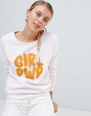 6049e204 Only Terry girl power print sweatshirt in 2019 | w a r d r o b e ...