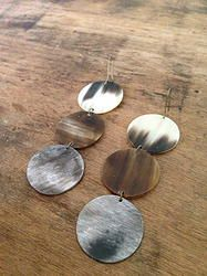 Three Circle Earrings - SALE $15 - Horn & Bone Collection - All natural materials. Handmade in Haiti. Support job creation in Haiti! Shop @ elishac.com