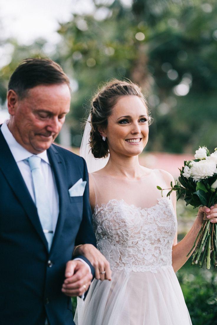Father and Daughter down the aisle   Will + Jess Byron Bay Wedding at Fig Tree Restaurant   #byronbaywedding #weddingphotography #destinationwedding #fatherofthebride