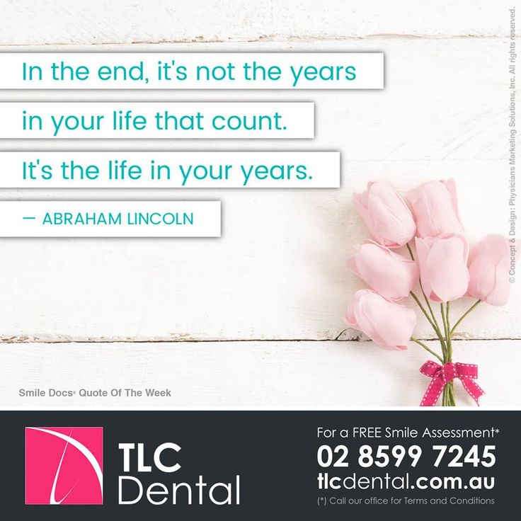 #InspirationalQuote — In the end, it's not the years in your life that count. It's the life in your years. –Abraham Lincoln / For a Free Smile Assessment*, please call 02 8599 7245 - www.tlcdental.com.au / (*) Please call our office for Terms & Conditions. #SmileDocs #SmileDeals #drhoffenberg #tlcdental #dental #practice #cosmetic #tmj #invisalign #whitening #filler #care #dentist #porcelain #crowns #veneers #dental #implants #clear #braces #teeth