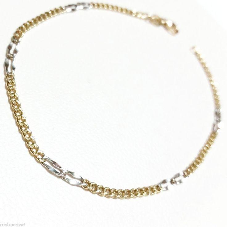 Bracciale  catena con Maglia alternata in Oro 18 kt - 18k bracelet Un' idea per il Tuo regalo di Natale!  Scegli Gioielleria Centro Oro srl, la Gioielleria a casa tua!Basta un click! #store #ebay #gioielleriacentrooro #gioielli #bracciali #oro #anelli #catene #ciondoli #diamanti