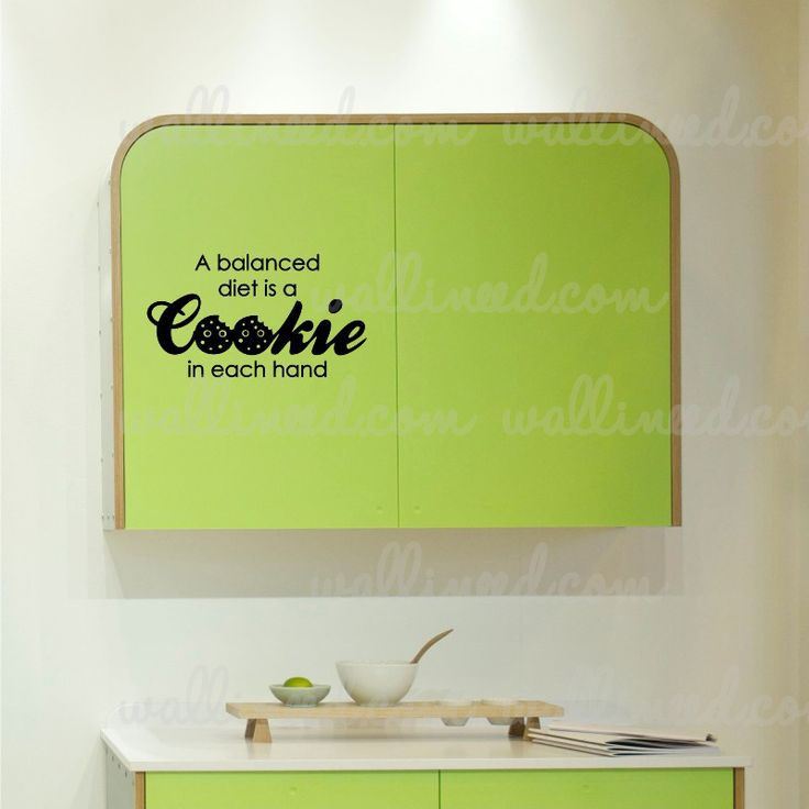 A Balanced Diet Cookie Decal Funny Sticker Kitchen Wall Decal Sticker Kitchen Decal Sticker Art