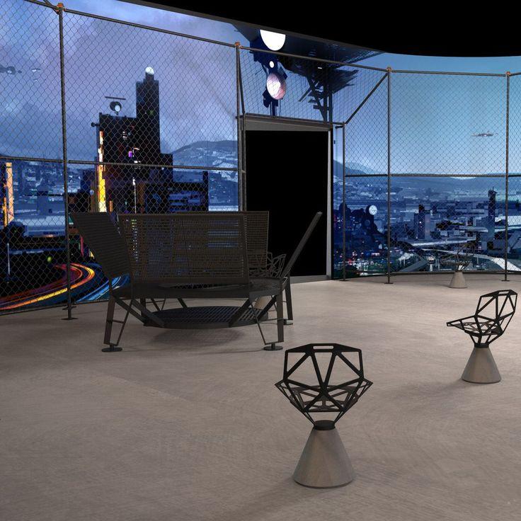 Rendering, Raum 3 / room 3, »Public Space«, »Konstantin Grcic – Panorama«, © KGID