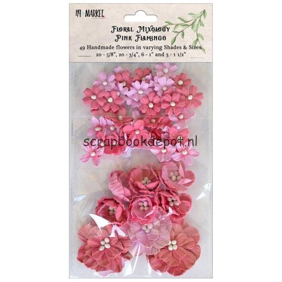 49 and Market Floral Mixology Paper Flowers - Pink Flamingo