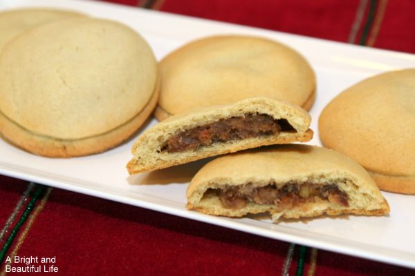 Date Filled Cookies ~ A great cookie for your dessert tray. Recipe ...
