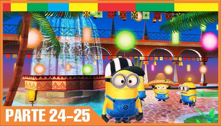 Despicable Me Minion Rush Espanol Completa nivel 24-25 Minions Juegos Para Niños y Bebes Español - YouTube