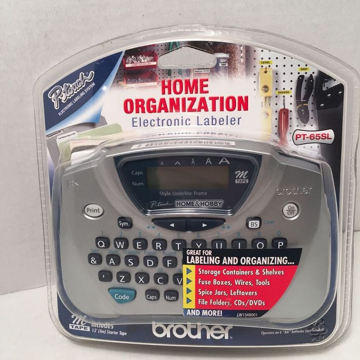 Brother P Touch PT 65SL Home Hobby Electronic Labeler Label Maker RARE Silver | eBay