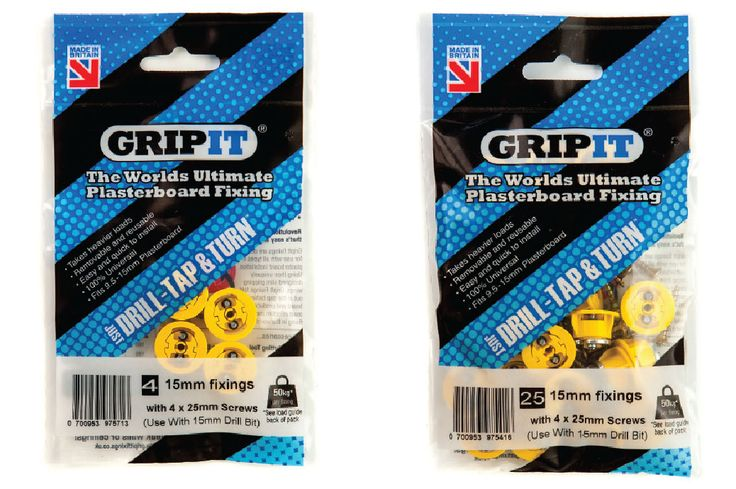 Product Range - Grip It Heavy Duty Plasterboard Fixings