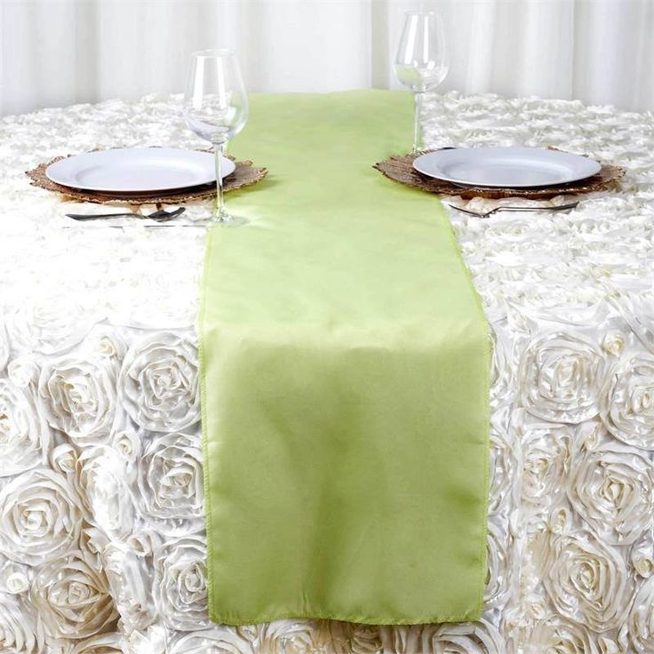 Apple Green Polyester Table Runner | Plan as many events as you want and invite as many guest as you desire without even worrying about the expenses and your budget. With our sturdy and economical polyester table runners, you can now transform any dining experience into a magnificent feast with an upscale feel and an elite look without breaking the banks. Get inspired by this premium quality polyester table runner that opens the gates of creativity and ingenuity. With such a high standard…