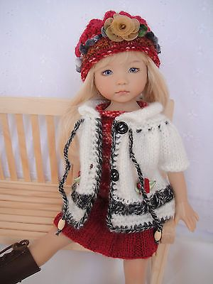 Handknitted OUTFIT for LITTLE DARLING doll - 13 inches (Dianna Effner) - New: