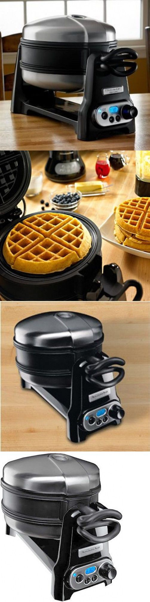 Waffle Makers 168763: Kitchenaid Kwb110ob Non-Stick Ceramic Grand Belgian Waffle Baker Maker Auto Shut -> BUY IT NOW ONLY: $299.99 on eBay!