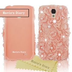 Mavis's Diary Luxury 3D Handmade Pink Elegant Silk Pearl Case Pink Cover for Samsung Galaxy S4 S Iv SIV S 4 Iv Gt-i9500 with Soft Clean Cloth by Mavis's Diary, http://www.amazon.com/dp/B00DA9Y7GQ/ref=cm_sw_r_pi_dp_XUV.rb065TDNW