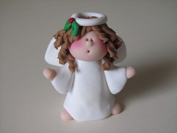 *POLYMER CLAY ~ Angel Figure via Etsy