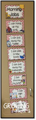 Awesome way remind students what their morning responsibilities are