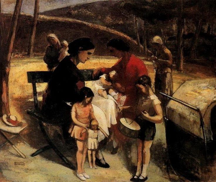 Τριανταφυλλίδης Θεόφραστος-Νταντάδες στον Βασιλικό κήπο, π. 1935 – 1940