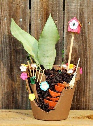 how to: fairy garden pot