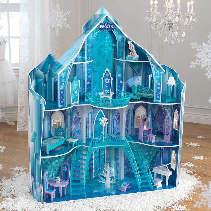 KidKraft Disney® Frozen Snowflake Mansion Dollhouse + 19 Pieces Of Furniture  Years)