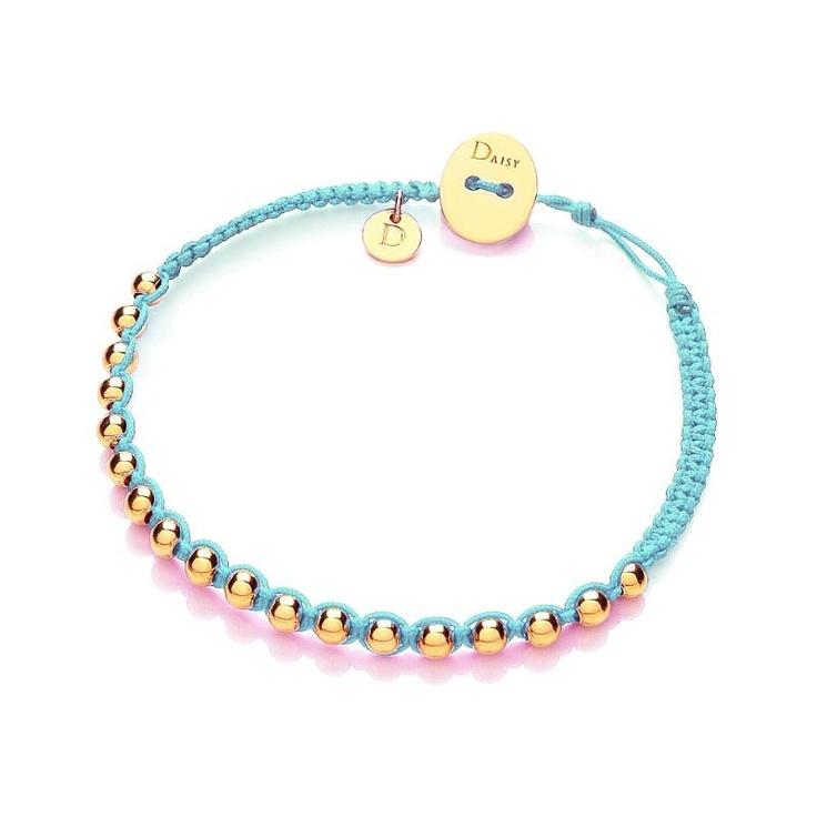 Daisy Turquoise Vermeil Friendship Bracelet
