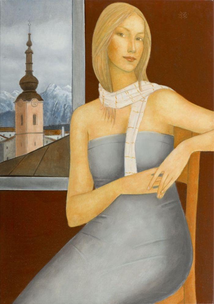 Roman  Zakrzewski - Kobieta przy oknie, 2011 r.
