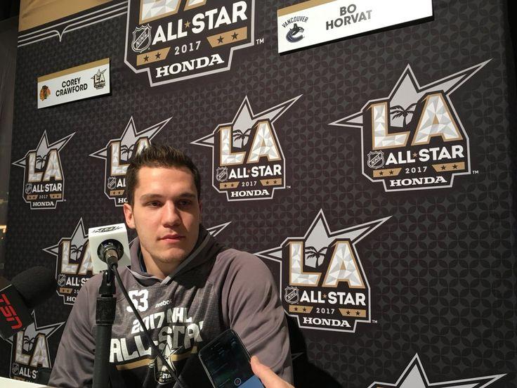 Bo Horvat @ the 2017 NHL All Star Game in LA.