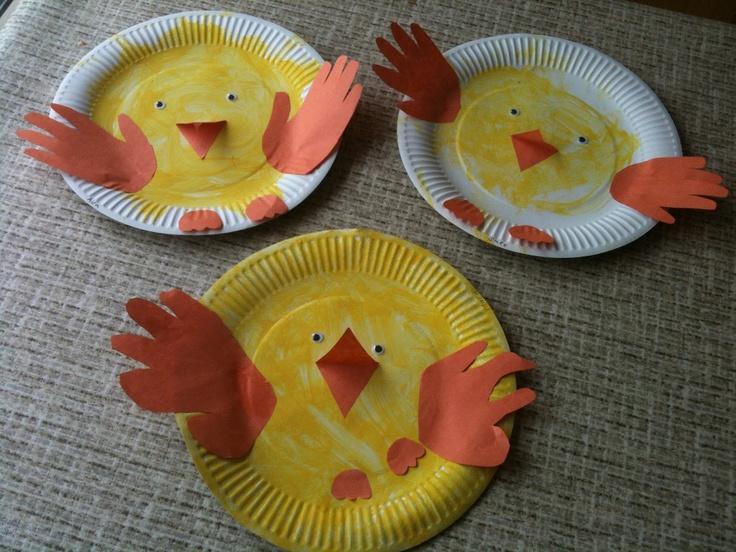 Corby Childminder: Easter chick handprint craft