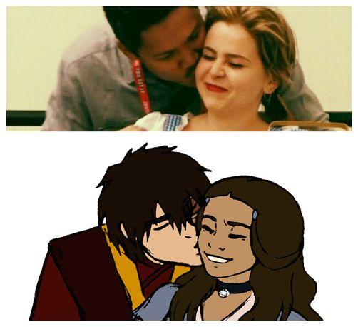 Zutara kiss...sort of ^^ by daydreamer-22.deviantart.com on @deviantART