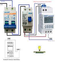 Esquemas eléctricos: reloj programable astronomico NKG3 monofasico