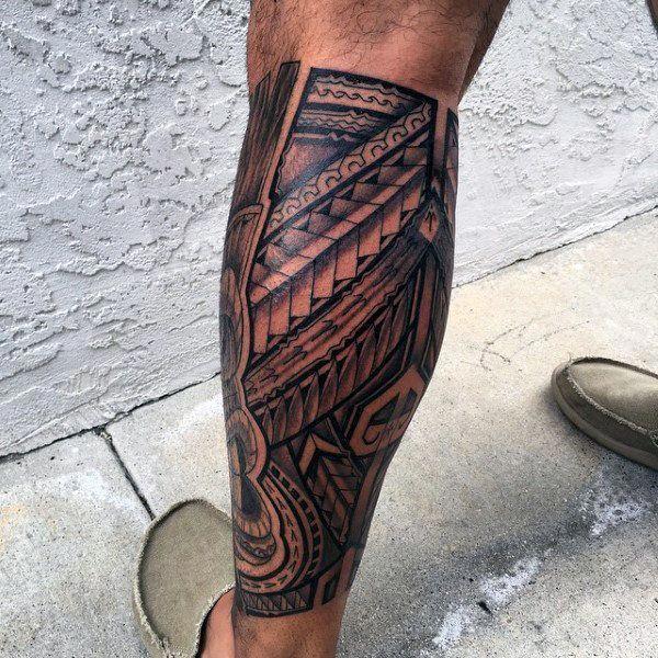 Polynesian Tribal Leg Tattoos For Men 60 Hawaiian Tattoos For Men Polynesiantattoosleg Topmenstattoo Hawaiian Tattoo Leg Tattoo Men Polynesian Leg Tattoo