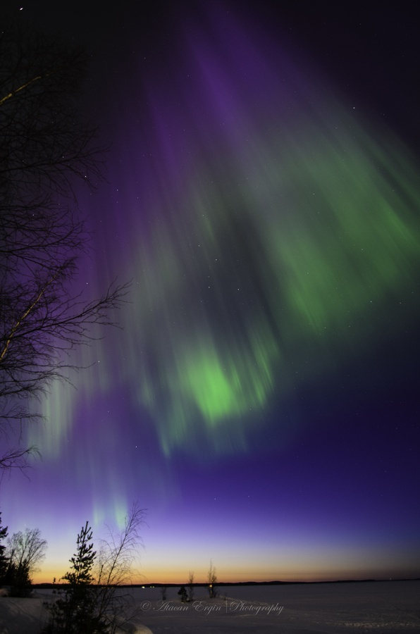 Geomagnetic storm: the Northern Lights in Tampere, Finland by Atacan Ergin