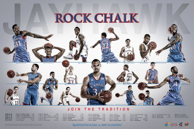 KU Men's Basketball Poster 2013-14