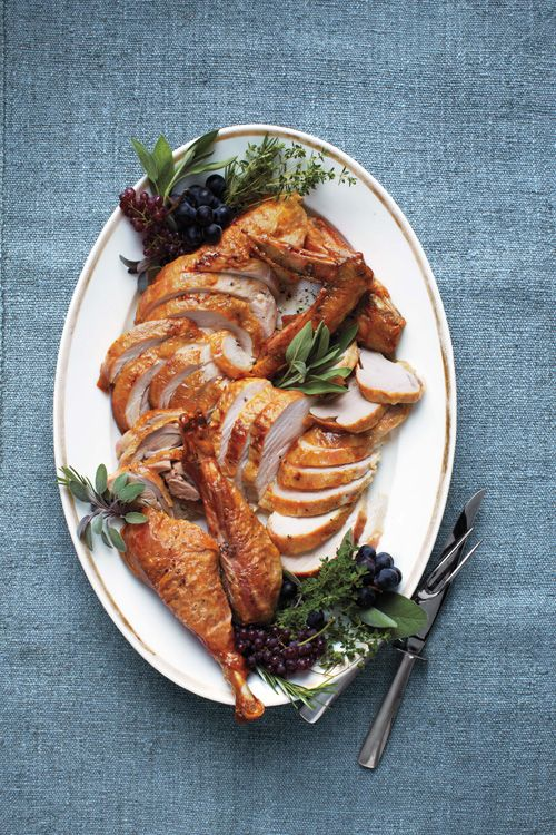 Roasted Turkey in Parchment Paper, recipe and photo reprinted from Martha Stewart Living magazine with permission | rasamalaysia.com