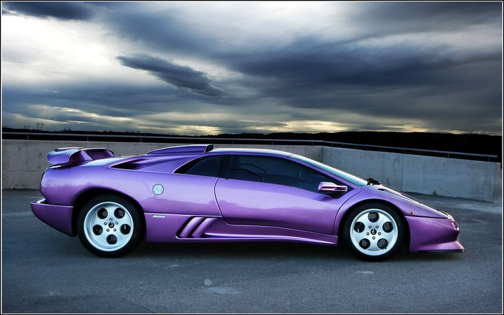 1992 Lamborghini Diablo SV (Like the Countach, but with improved handling, maneuverability, and you can actually see out the back window in this car. Plus I LOVE this color.) (I've always been one for cars with more unusual paint colors, If you didn't already realize.)