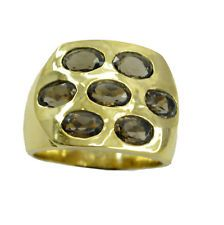 india  Gold Plated inviting genuine Brown Ring gift UK