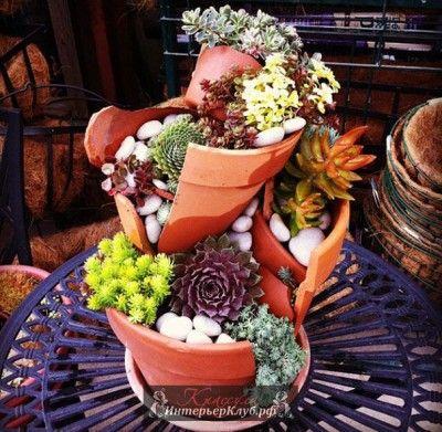 Мини сад своими руками, мини сад в горшке своими руками, идеи мини сада своими…