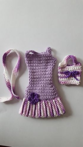 Barbie-Doll-Clothes-Crochet-New-Handmade. Want to make a pattern for this! Cute